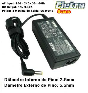 Fonte Carregador Asus Compativel Notebook Positivo Sim Cce Sti 19v 3 42a Bivolt Eletro Suzano Notebook Positivo Carregador Eletro