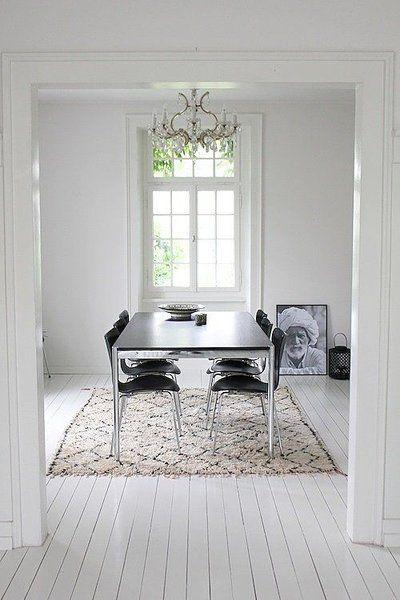 Zeitlos und klassisch Flauschige Schwarz-Weiß-Teppiche für dein Zuhause