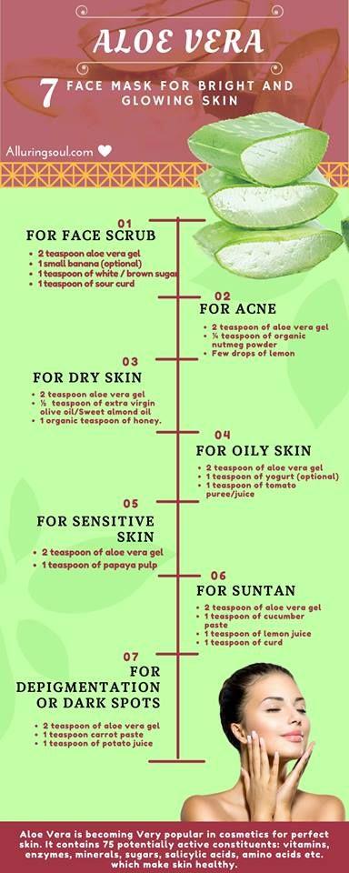 Fresh aloe vera face mask
