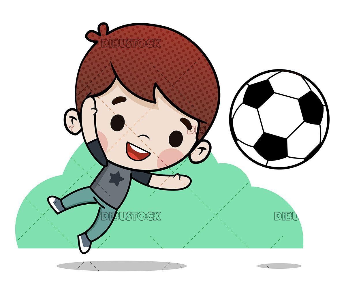 Boy Playing Soccer Stopping A Goal Boys Playing Boys Childish