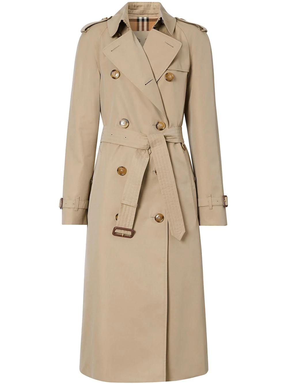 Burberry Cotton Gabardine Trench Coat Farfetch In 2021 Trench Coat Burberry Trench Coat Coat