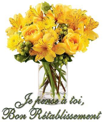 bouquet de fleurs je pense à toi