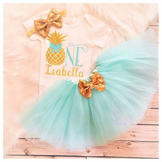 d233d20b3e0d Pineapple Birthday tutu Outfit