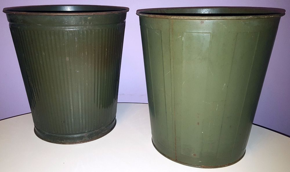 1950 S Office Trash Cans Metal Trash Cans Trash Can Canning