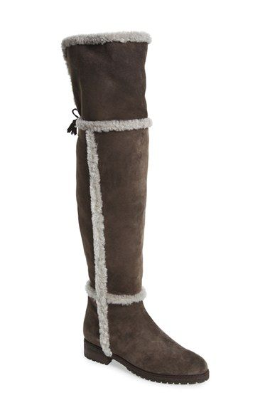 Frye 'Tamara' Genuine Shearling Over the Knee boots