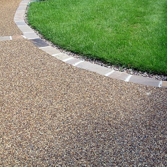 Resin Bound Surface With A Curved Edge.