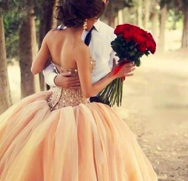 Big Puffy Dress - prom or wedding - romantic