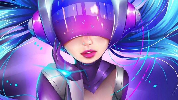 League Of Legends Dj Sona Ethereal Skin Art Girl 2560x1440 League Of Legends Lol League Of Legends League Of Legends Game