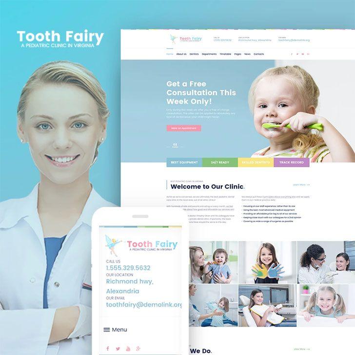 Pediatric #Dentistry #WordPress #Theme.Parallax Pediatric Clinic WP ...