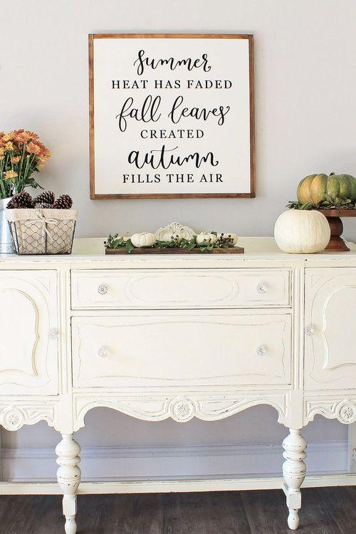 Fall Dining Room Sideboard Decor | Fall Decor and Ideas ...
