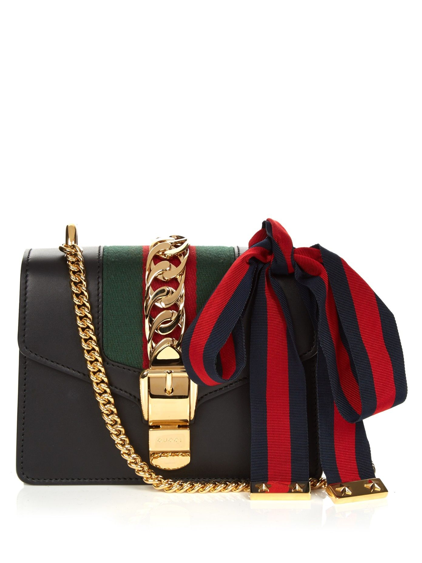 515b03bd2 GUCCI Sylvie mini leather cross-body bag | Bags | Leather crossbody ...
