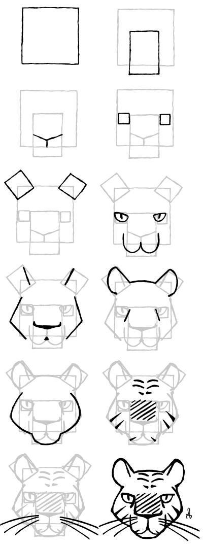 Comment dessiner tigre four tout pinterest comment dessiner tigre comment dessiner et - Dessin de tigre facile ...