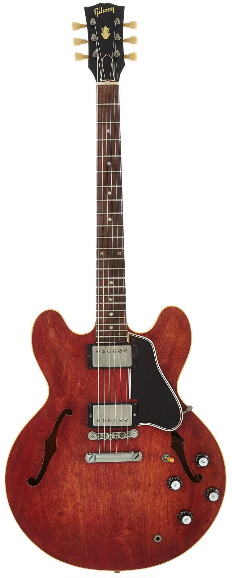 Sold Price 1962 Gibson Es 335 Cherry Semi Hollow Body Electric Gui February 6 0115 1 00 Pm Pst Gibson Guitars Guitar Jazz Guitar
