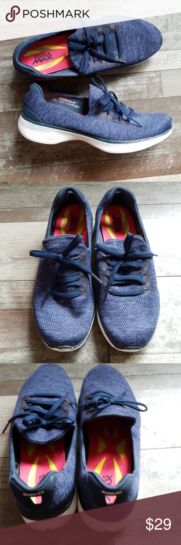 f3724a05fb8c6 Skechers goga max quick fit sneakers size 7.5 Super cute Skechers goga max  quick fit sneakers. Size 7.5 Skechers Shoes Athletic Shoes