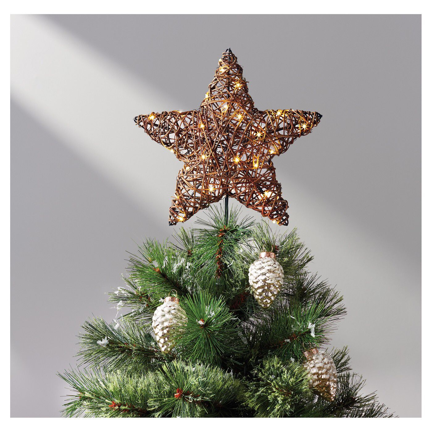 Rattan LED Tree Topper Star tree topper, Led tree topper