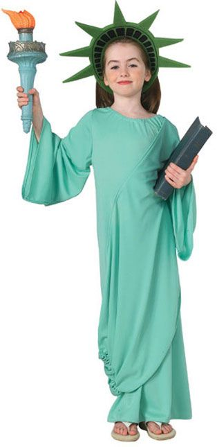 Statue of Liberty Childrens Halloween Costumes HalloweenCostumes4u - green dress halloween costume ideas