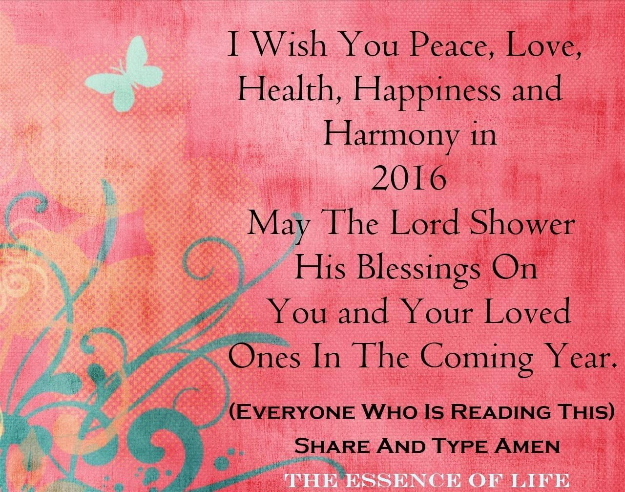I Wish You Love Peace And Harmony In 2016 Peace And Love New Year Quotes For Friends Happy New Year Quotes
