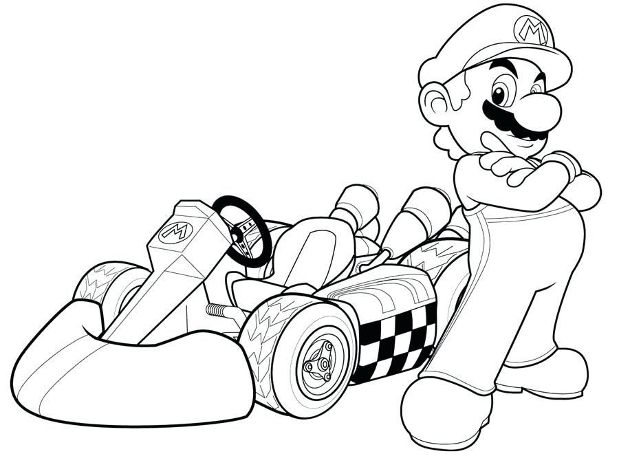 Mario Kart 8 Coloring Pages Printable You'll Love