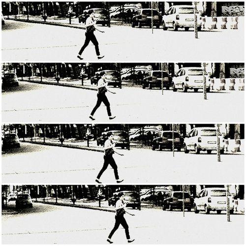 Walkin' away.