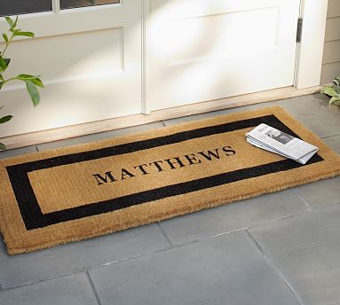 Personalized Extra Large Doormat 30 X 48 Black Products