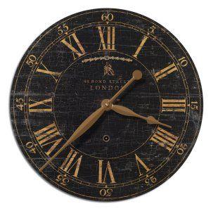 Decorative Wall Clocks On Hayneedle For Sale Black Clock Decor Traditional
