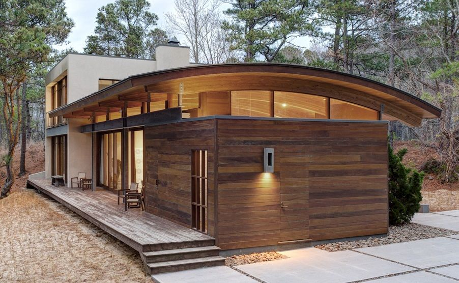 Best Curved Roof House Metal Roof Houses Roof Architecture 400 x 300