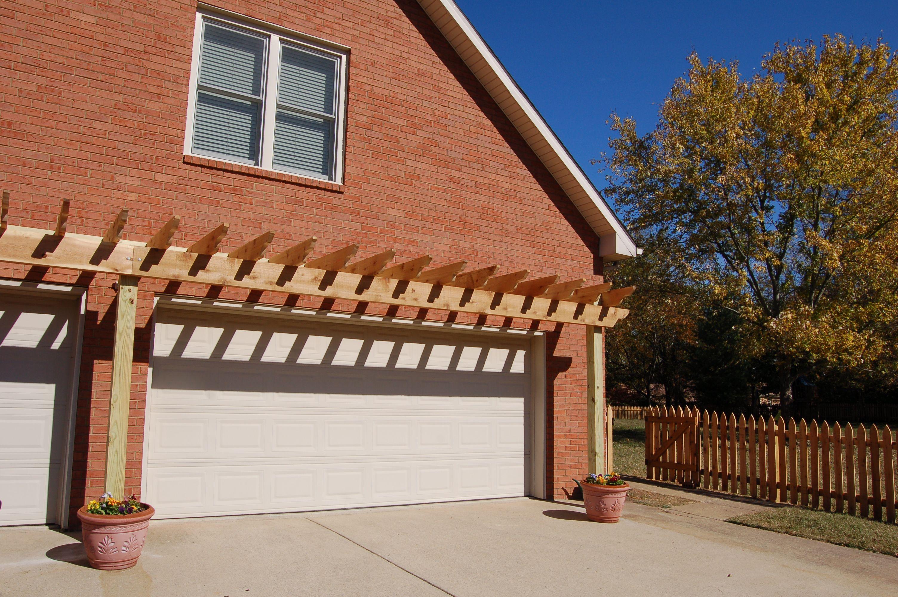 Arbor Over Garage Garage Pergola House Paint Exterior Pergola
