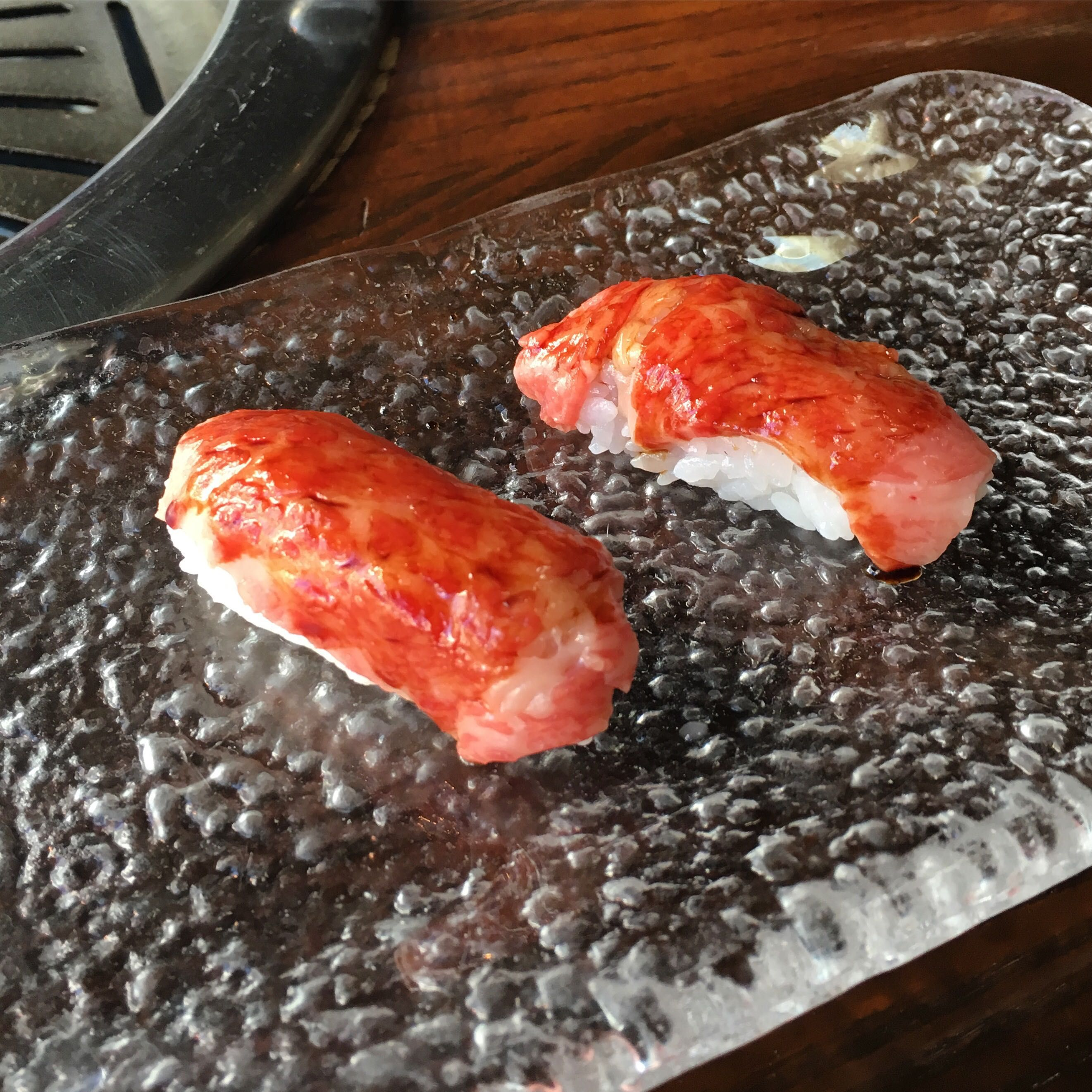 [I ate] Toro wagyu sushi