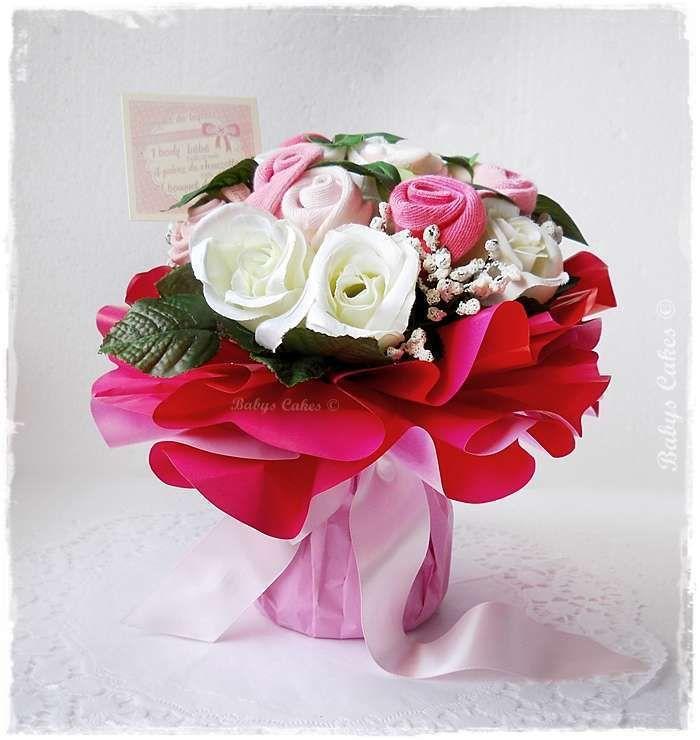 bb7235f219263 Cadeau de naissance Bouquet de layette