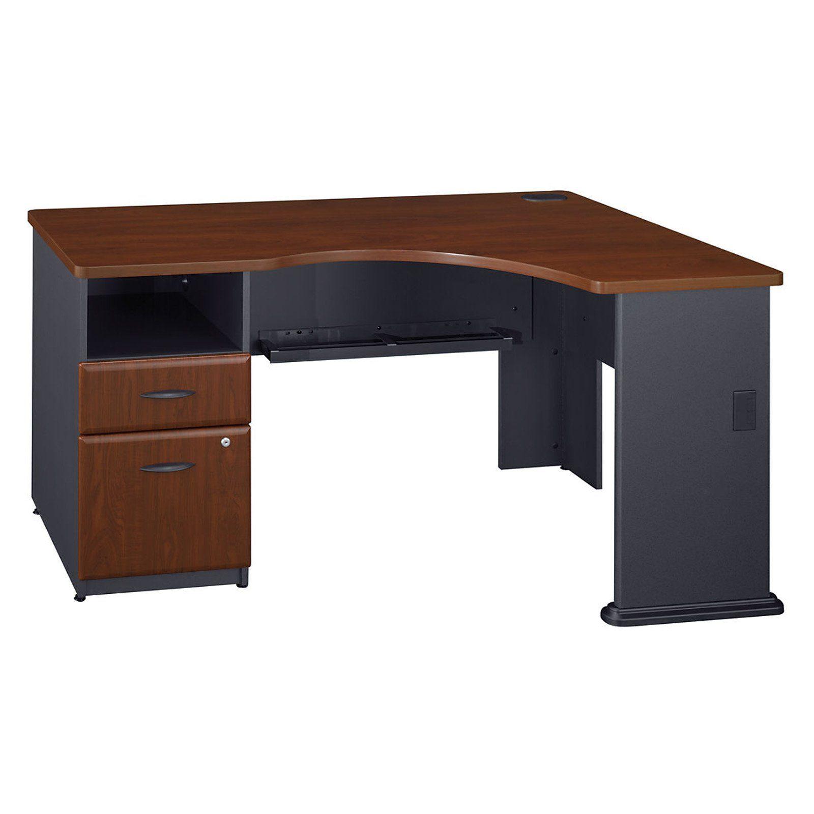 Bush Furniture Series A 2 Drawer Pedestal Corner Desk Bush