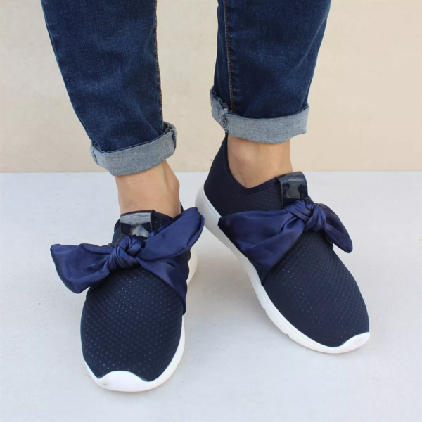 New Neutral Bow Sneakers – nanashoe | Bow sneakers, Round