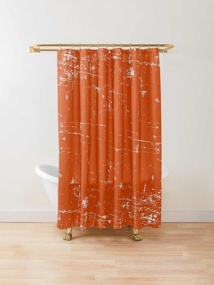 Burnt Orange Grunge Design Shower Curtain By Createdproto In 2020 Design Cool Shower Curtains Unique Shower Curtain
