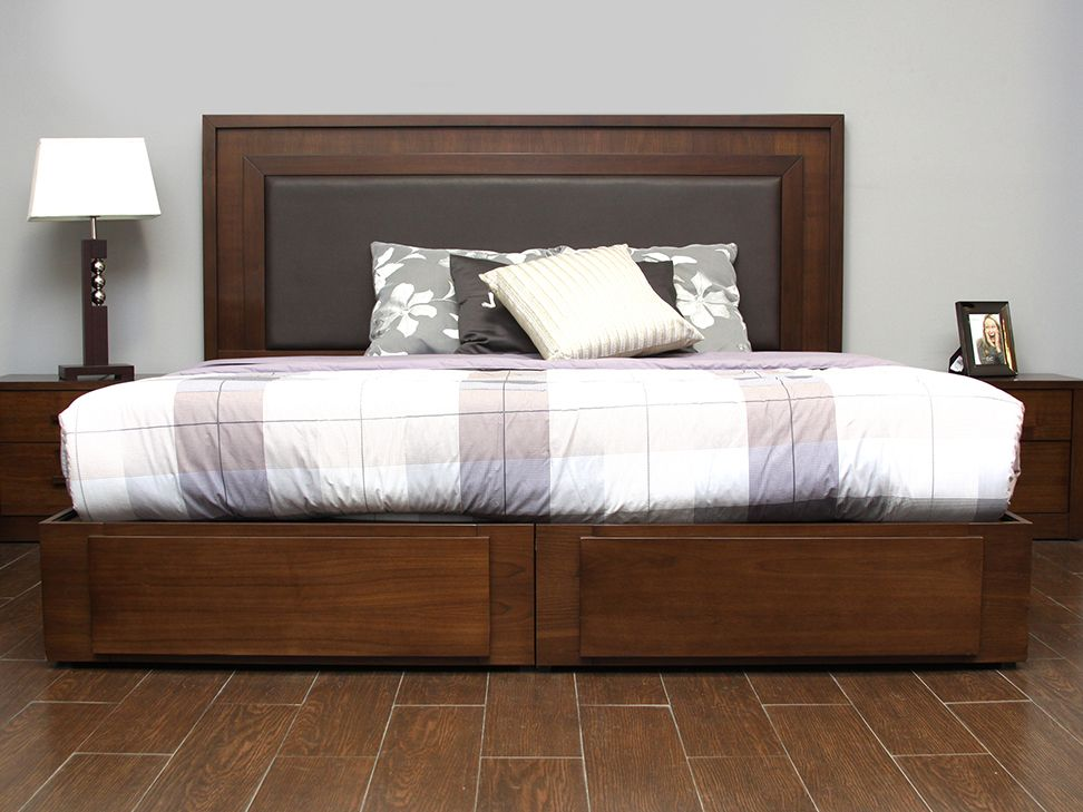 Base cama king size tabaco helica liverpool es parte de mi for Modelos de recamaras king size
