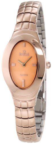 Swistar Women's 104-14L Swiss Quartz Rose Gold Plated Stainless Steel Dress Watch -