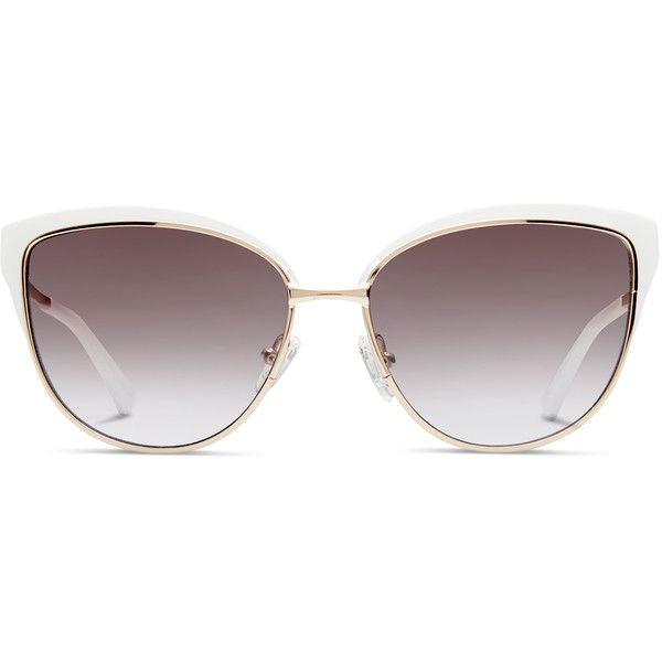 07e87e0b9c GlassesUSA Lexi Gold w White ( 84) ❤ liked on Polyvore featuring  accessories