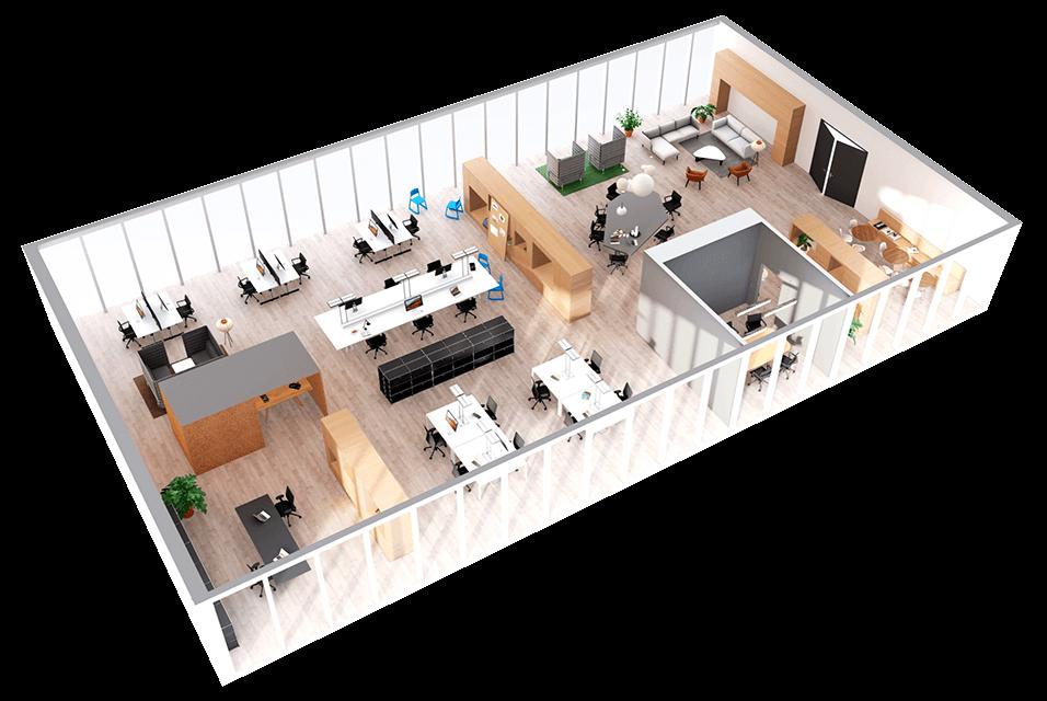 Premium Office 3d Floor Plan With Images Office Floor Plan