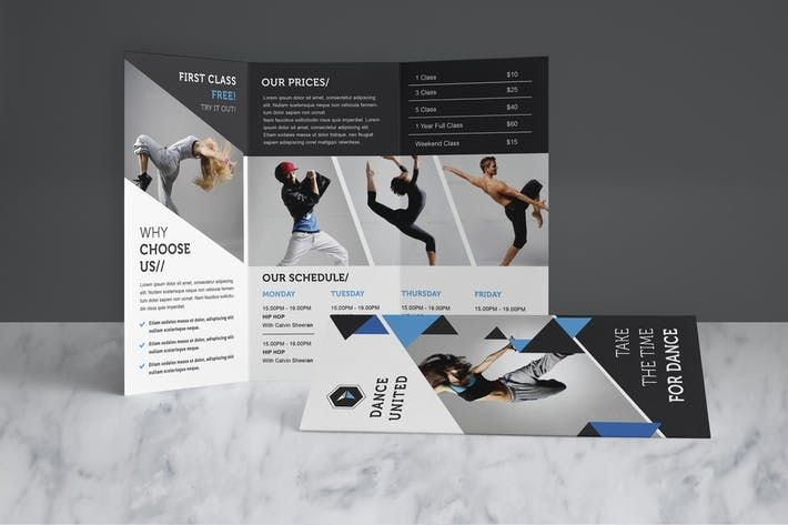 Dance Studio Brochure Pack By Leaflove  Design Resources