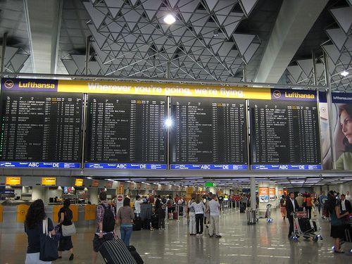 The Big Board in Terminal 1 at Frankfurt am Main