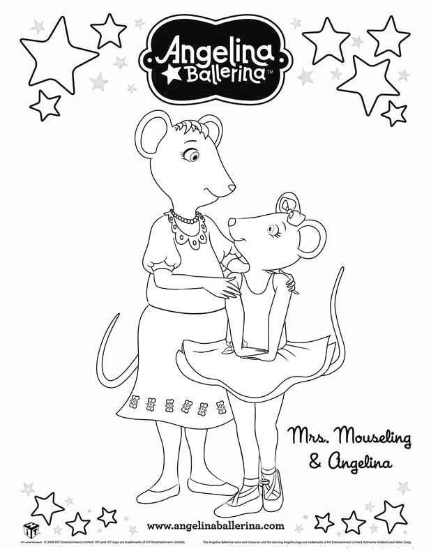 Angelina Ballerina Coloring Pages 3 | Ballet | Pinterest