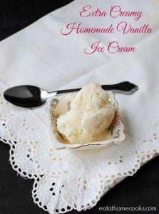 Extra Creamy Homemade Vanilla Ice Cream