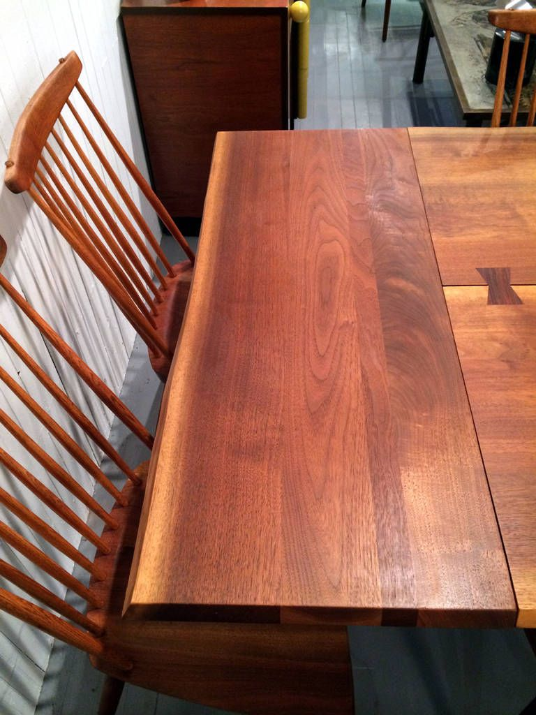 Walnut Rosewood Dining Table Extension George Nakashima 8