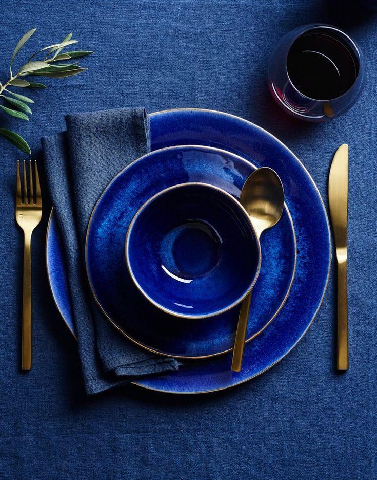 Rich Classic Blue Dishes Classic Blue Pantone Blue Interior Design Blue Decor