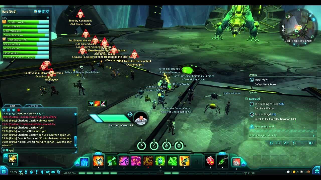 Incline gaming wildstar fun metal maw 20 man raid