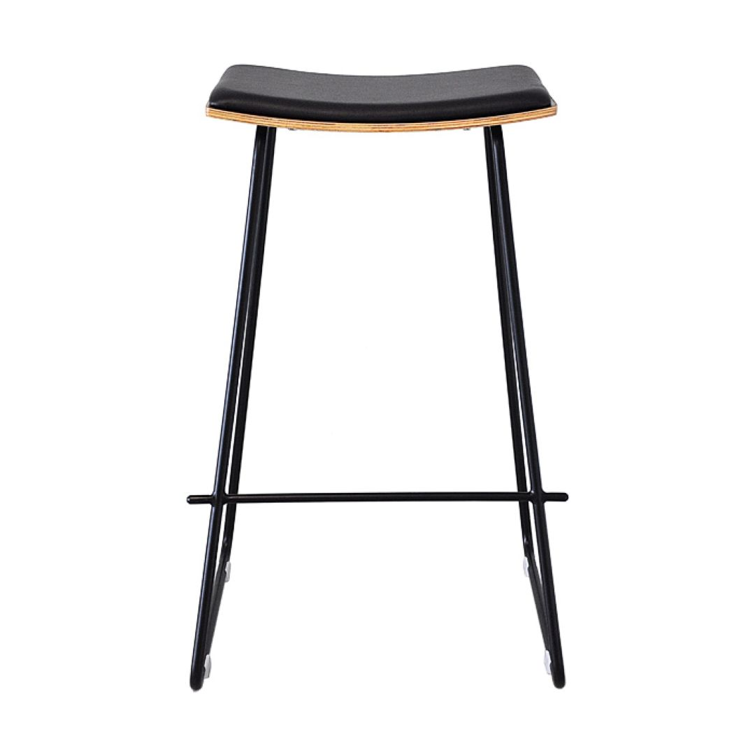 Kass Bar Stool 73cm - Black Frame & Cushion,Natural Seat   Bar stool ...