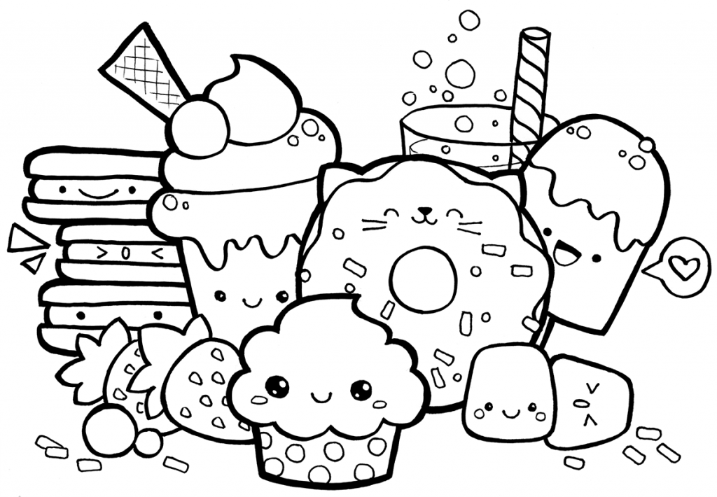 Desenhos Para Colorir Kawaii 6 Desenhos Do Doodle Desenhos Para