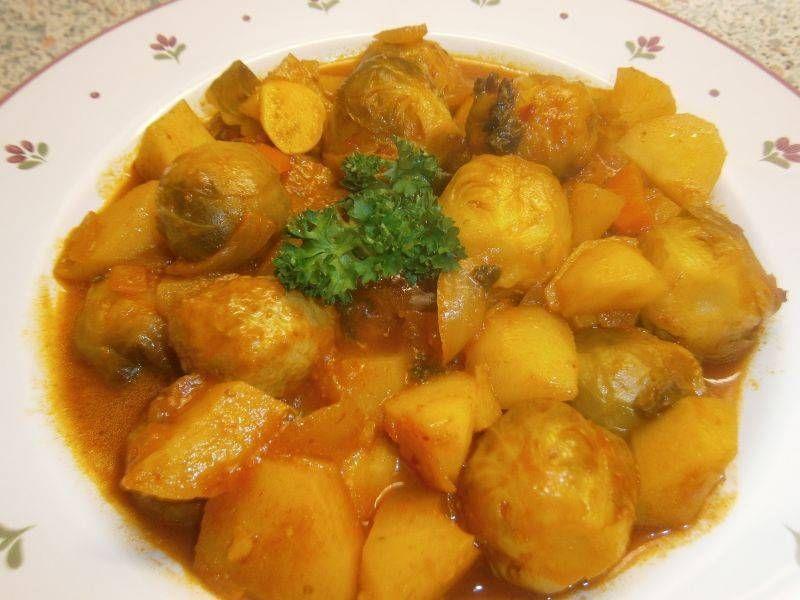 Rosenkohl Curry