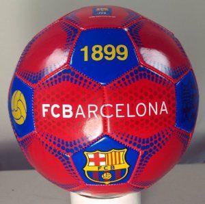 9aeee25afe6 Handsewn Futbol Soccer Ball - Red with Blue Dot Design - FCB (Futbol Club  Barcelona