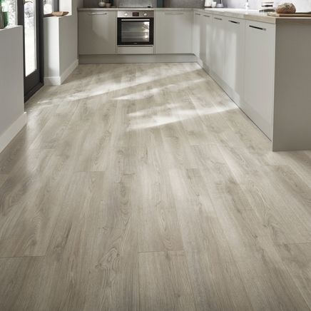 Professional Groove White Washed Oak Laminate Flooring