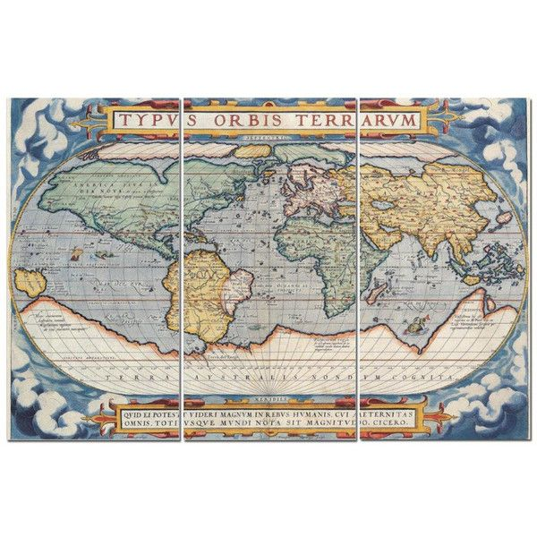 Vintage style latin world map 12 x 24 3 piece canvas print set 75 vintage style latin world map 12 x 24 3 piece canvas print set 75 gumiabroncs Image collections