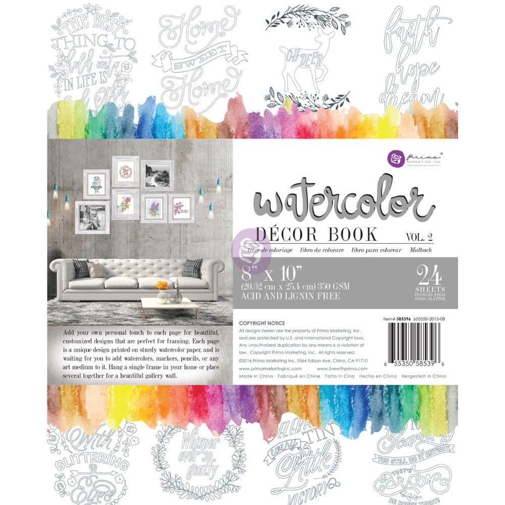 Coloring Book Vol In 2021 Coloring Books Watercolor Decor Prima Watercolor